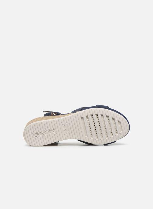 Sandales et nu-pieds Geox D ISCHIA CORDA D02HHC Bleu vue haut