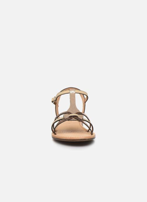 Sandalen Geox D SOZY D022CG gold/bronze schuhe getragen