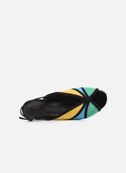 Zapatos de tacón Geox D WISTREY SANDALO D024HB Multicolor vista lateral izquierda
