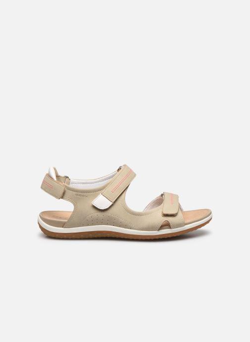 Sandales et nu-pieds Geox D SANDAL VEGA D52R6A Beige vue derrière