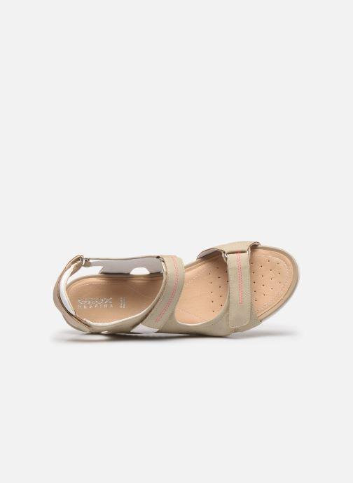 Sandales et nu-pieds Geox D SANDAL VEGA D52R6A Beige vue gauche