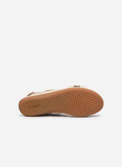 Sandales et nu-pieds Geox D SANDAL VEGA D52R6A Beige vue haut