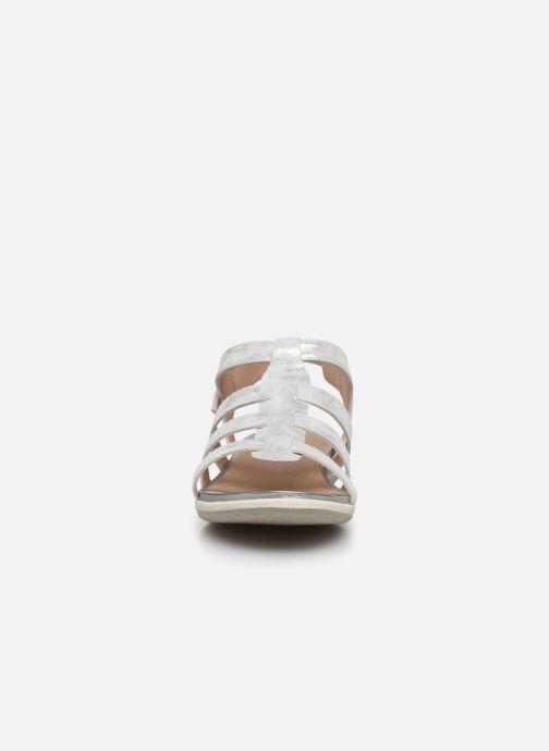 Sandales et nu-pieds Geox D SANDAL VEGA D72R6A Argent vue portées chaussures