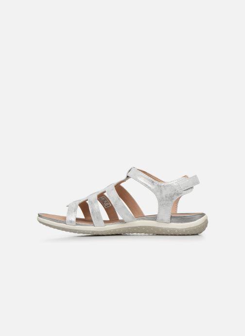 Sandales et nu-pieds Geox D SANDAL VEGA D72R6A Argent vue face