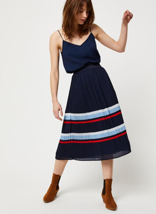 Vêtements Vila Vifella Skirt /Rx Bleu vue bas / vue portée sac
