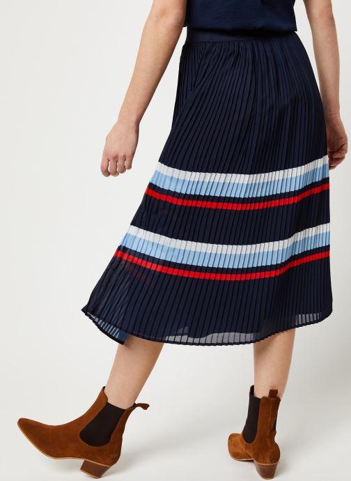 Vêtements Vila Vifella Skirt /Rx Bleu vue portées chaussures