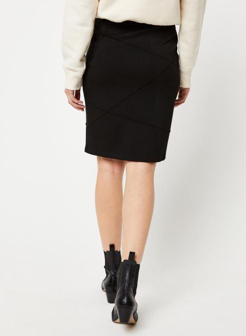 Vêtements Vila Visif New Pencil Skirt Noir vue portées chaussures