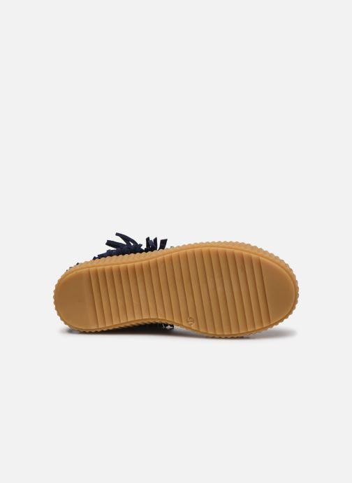 Baskets Yep Effie Bleu vue haut