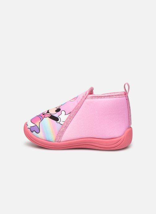 Chaussons Mickey Mouse Savon Rose vue face