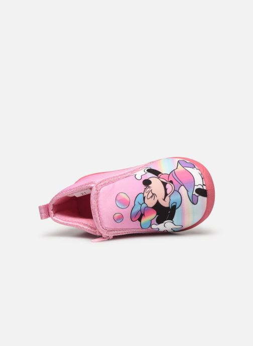 Chaussons Mickey Mouse Savon Rose vue gauche