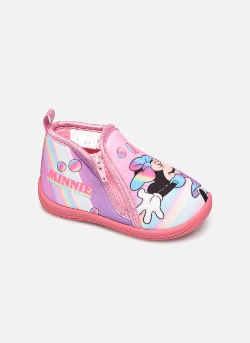 Chaussons Mickey Mouse Savon Rose vue détail/paire