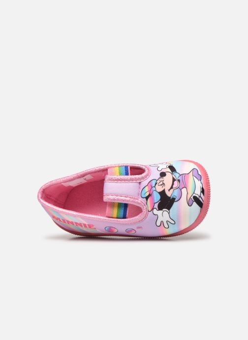 Chaussons Mickey Mouse Savigny Rose vue gauche