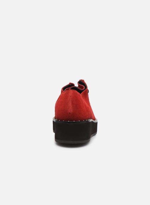 Chaussures à lacets Jonak 225-ARCO Rouge vue droite