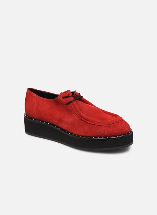 Chaussures à lacets Jonak 225-ARCO Rouge vue détail/paire