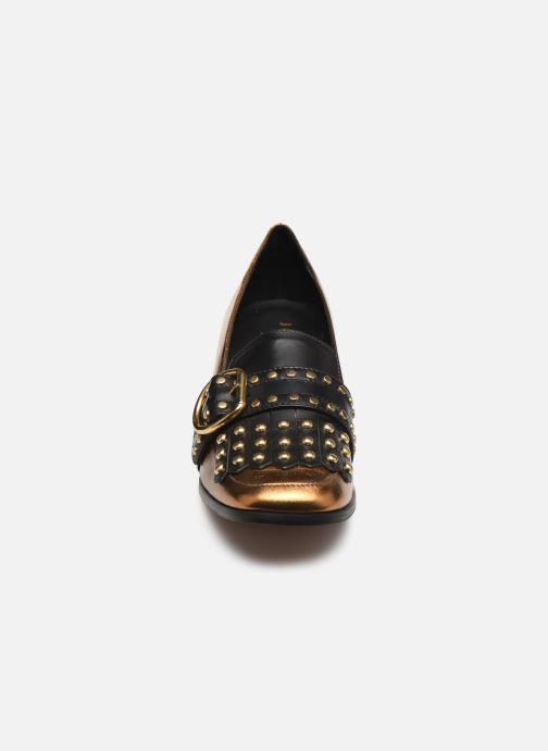 Mocassins Jonak 414-CHACHOU Or et bronze vue portées chaussures