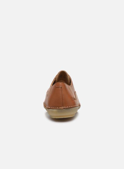 Zapatos con cordones Kickers FORTUNIA Marrón vista lateral derecha