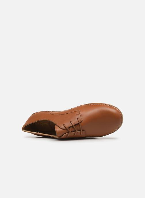 Zapatos con cordones Kickers FORTUNIA Marrón vista lateral izquierda