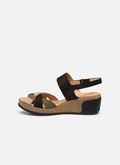 Sandales et nu-pieds El Naturalista Leaves 5008 PE2020 Noir vue face
