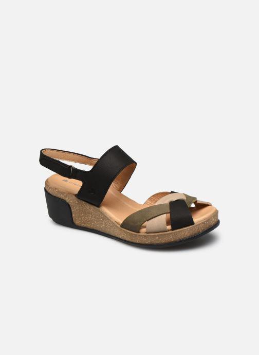 Sandales et nu-pieds El Naturalista Leaves 5008 PE2020 Noir vue détail/paire