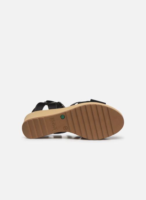 Sandalen Kickers WIDJIK schwarz ansicht von oben