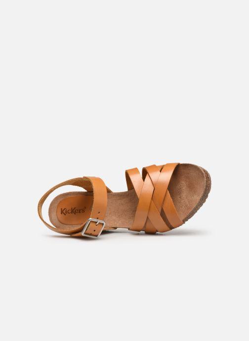 Sandales et nu-pieds Kickers SOLYNA Jaune vue gauche