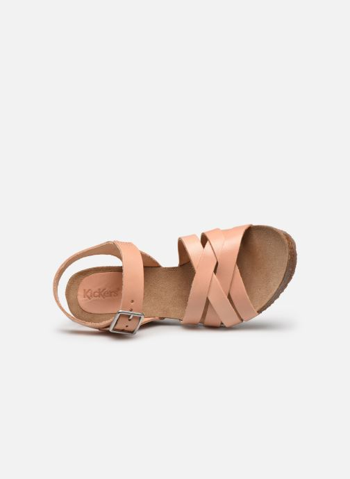 Sandali e scarpe aperte Kickers SOLYNA Rosa immagine sinistra