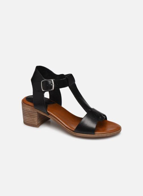 Sandaler Kickers VALMONS Sort detaljeret billede af skoene
