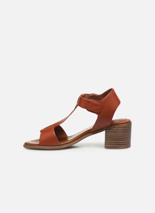 Sandalen Kickers VALMONS rot ansicht von vorne