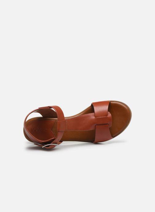 Sandalen Kickers VALMONS rot ansicht von links