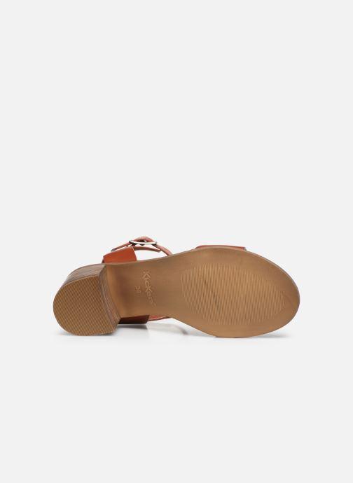 Sandalen Kickers VALMONS rot ansicht von oben