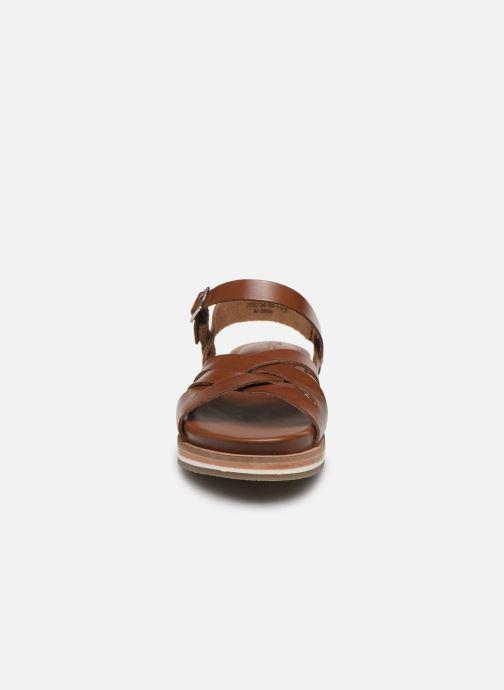 Sandalen Kickers OLIMPIK braun schuhe getragen