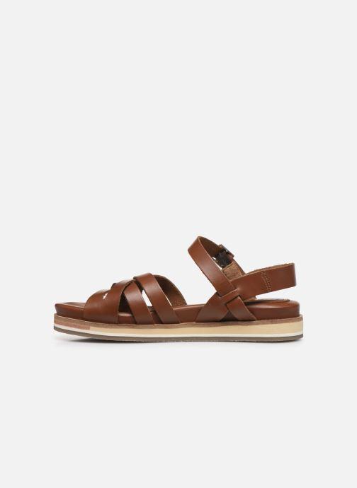 Sandalen Kickers OLIMPIK braun ansicht von vorne
