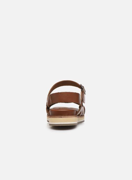 Sandalen Kickers OLIMPIK braun ansicht von rechts