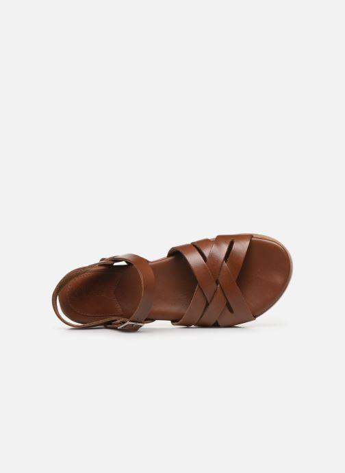 Sandalen Kickers OLIMPIK braun ansicht von links