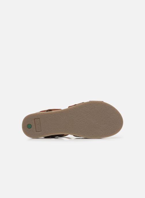 Sandalen Kickers OLIMPIK braun ansicht von oben