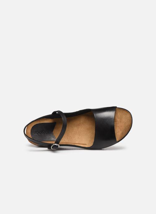 Sandales et nu-pieds Kickers TAKIKA Noir vue gauche