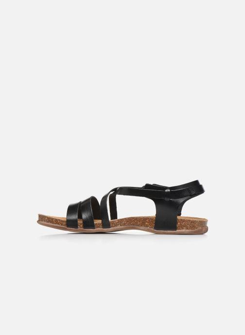 Sandales et nu-pieds Kickers ANATOMIUM Noir vue face