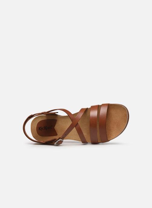 Sandales et nu-pieds Kickers ANATOMIUM Marron vue gauche