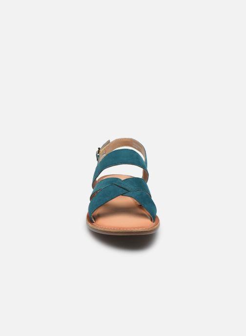 Sandales et nu-pieds Kickers DIBA-2 Bleu vue portées chaussures