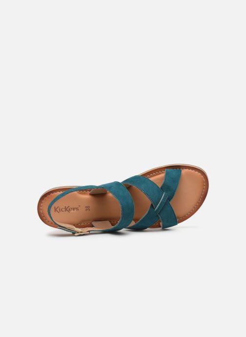 Sandales et nu-pieds Kickers DIBA-2 Bleu vue gauche