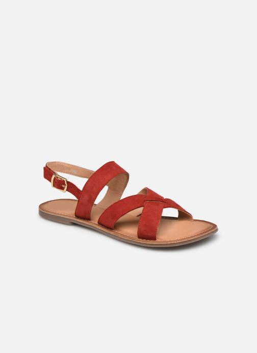 Sandales et nu-pieds Kickers DIBA-2 Rouge vue détail/paire