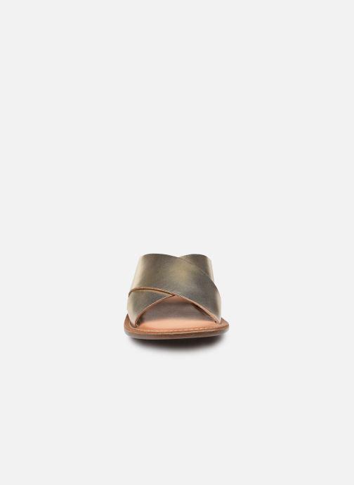 Mules et sabots Kickers DIAZ-2 Or et bronze vue portées chaussures