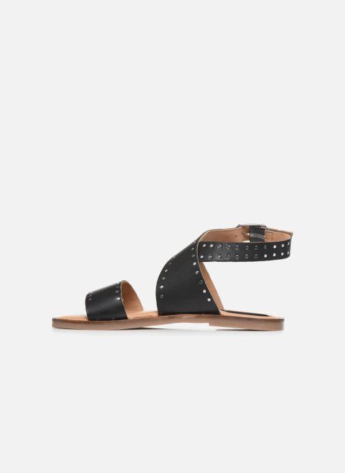 Sandales et nu-pieds Kickers KICLANA Noir vue face