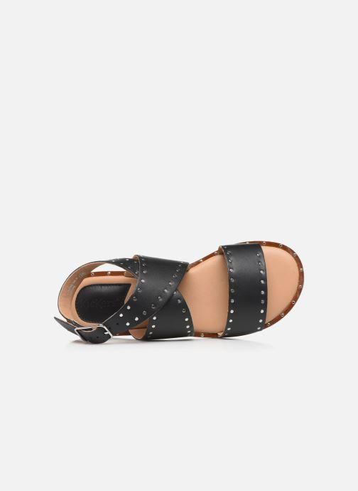 Sandales et nu-pieds Kickers KICLANA Noir vue gauche