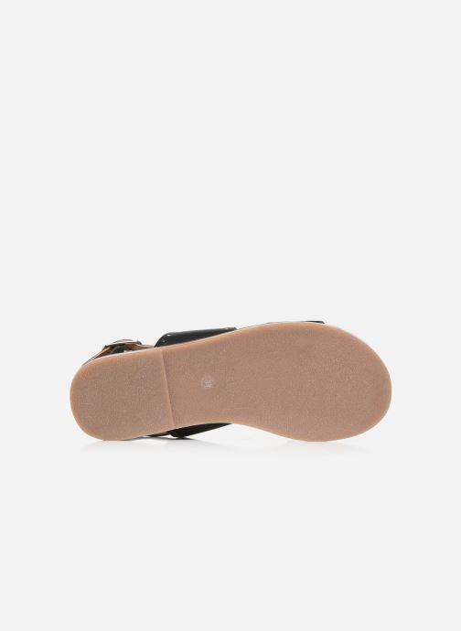 Sandales et nu-pieds Kickers KICLANA Noir vue haut