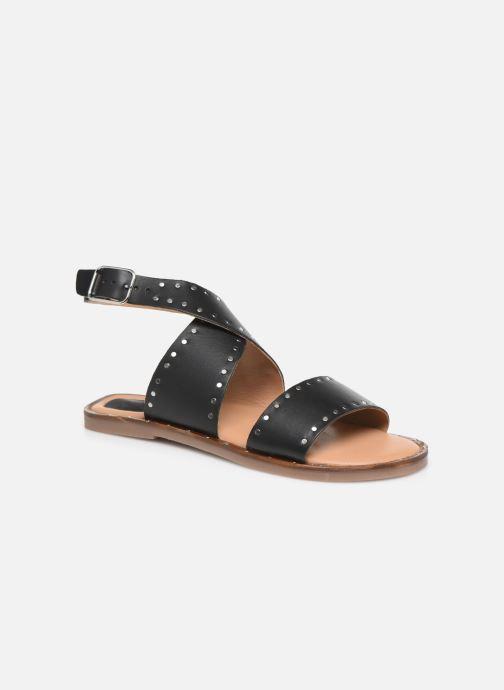 Sandales et nu-pieds Kickers KICLANA Noir vue détail/paire