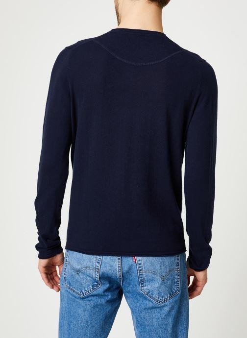 Vêtements Harris Wilson Pull Gabin Bleu vue portées chaussures