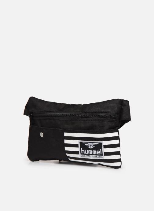 Borse uomo Hummel Hmlnathancasper Hip Bag M Nero modello indossato
