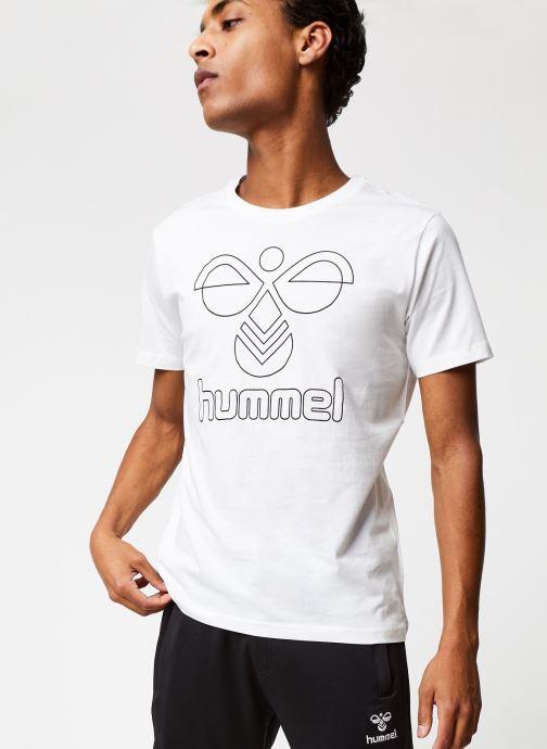 Vêtements Hummel Hmlpeter T-shirt S/S Blanc vue droite