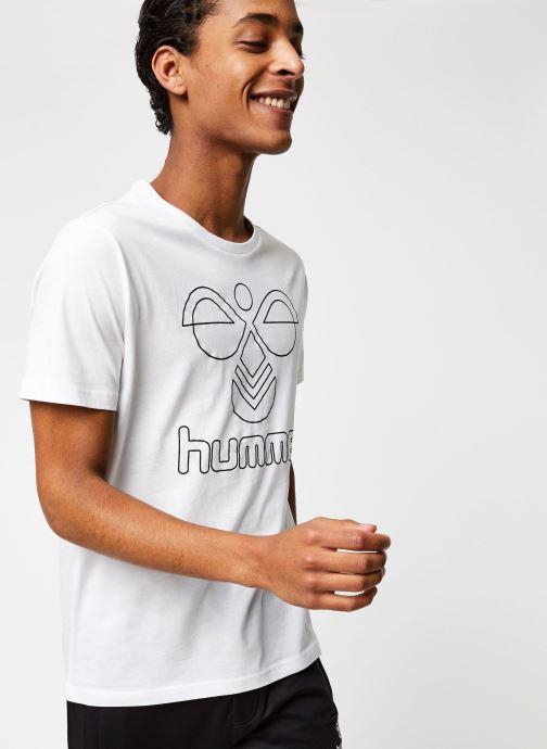 Vêtements Hummel Hmlpeter T-shirt S/S Blanc vue détail/paire